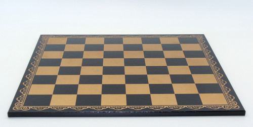 Pressed Leather on Wood Chess Board