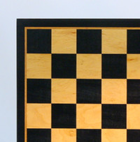 "Black & Birdseye Maple Chess Board - 21"" ("