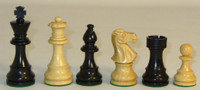 "The Romantic Knight - Black and Natural Boxwood Chess Pieces - 3.75"" King"