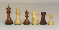 "The Majestic - Golden Rosewood and Natural Boxwood Chess Pieces - 4"" King"