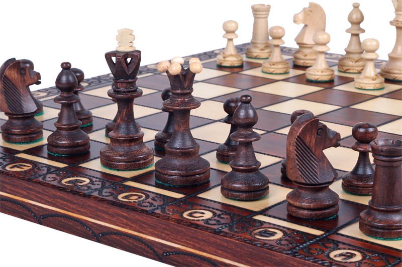 The Zaria - Unique Wood Chess Set, Pieces, Chess Board & Storage