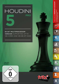 Houdini 5 Pro Chess Playing Software Program