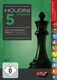 Houdini 5 Standard Chess Playing Software Program