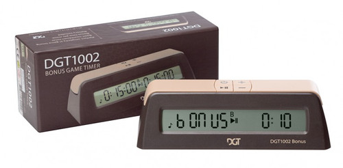 DGT 1002 - Chess Clock and Game Timer with Bonus options  and box
