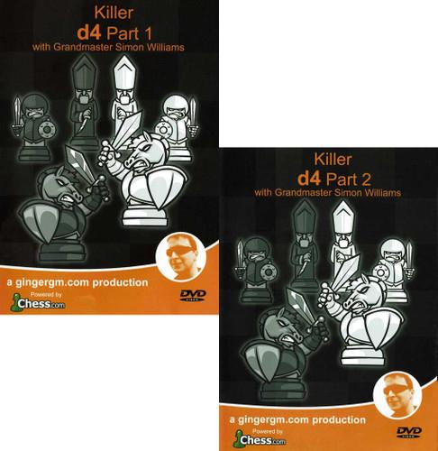 Killer 1.d4 Parts 1 & 2 by GM Simon Williams DVD
