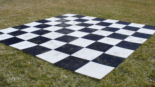"""Garden Nylon Chess Chess Board Mat with 12"""" Squares"""