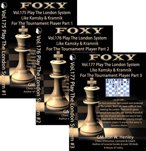 Foxy 175-177: Play the London System, Complete Set (3 DVDs) - Chess Opening Video DVD