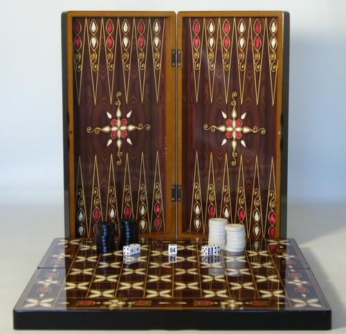 Pistachio Cluster Decoupage Backgammon Set