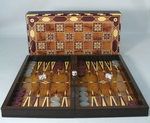 "Marrakesh Decoupage Backgammon Set 19"" Marrakesh Backgammon"