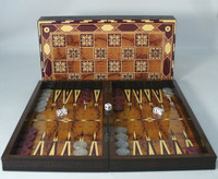 "Marrakesh Decoupage Backgammon Set 19"" Marrakesh Backgammon"