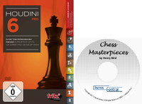 "Houdini 6 Pro - Chess Playing Software on DVD and ""Chess Masterpieces"" E-Book"