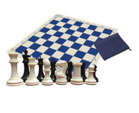 Classic Chess Set - Warlord Chess Pieces, Chess Board, Zippered Piece Bag and eBook