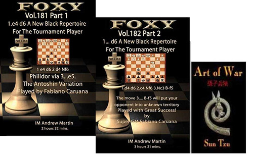 Foxy 181-182: A New Black Repertoire with 1...d6 - Chess Opening Video DVD