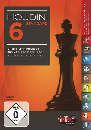 """Houdini 6 Standard Chess Playing Software on DVD and ChessCentral's """"Chess Masterpieces """""""