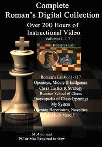 Roman's Mastering Chess Series: 117 Video Special - All on 5 DVDs FREE Shipping Worldwide!