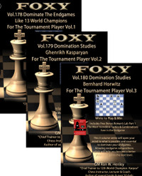 Foxy 178-180:  Domination Studies, Complete Set (3 DVDs) - Chess Endgame Video DVD