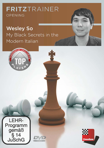 Wesley So: My Secrets for Black in the Modern Italian - Chess Opening Software on DVD
