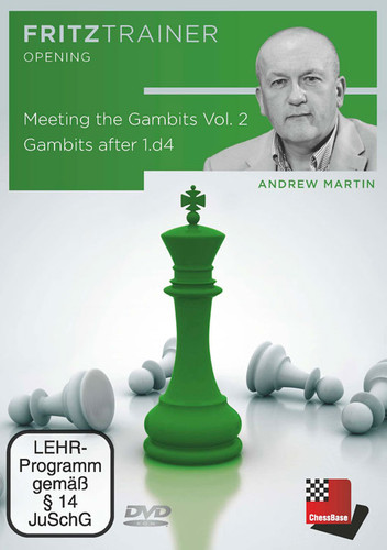 Meeting the Gambits, Vol. 2: Gambits after 1.d4 - Chess Opening Software DVD