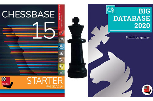 ChessBase 15 2020 Starter Package and Fritz 16 PLUS Chess King Flash Drive - Database Management Software DVD