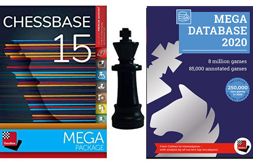 ChessBase 15 2020 Mega Package PLUS Chess King Flash Drive - Database Management Software DVD