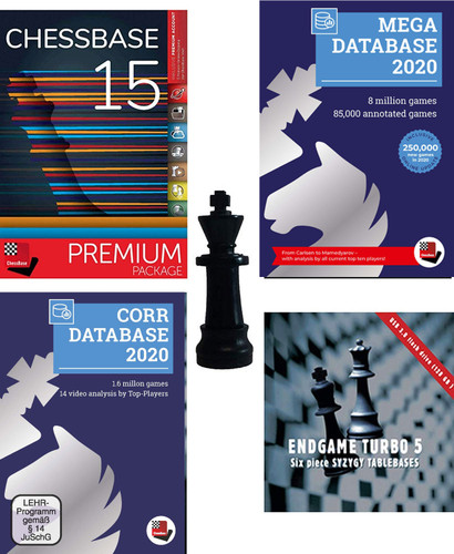 ChessBase 15 2020 Premium Package PLUS Chess King Flash Drive - Database Management Software DVD