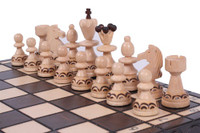 TThe Radegast Unique Wood Chess Set includes Chess Pieces, Chess Board and Storage