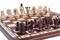 The Deivos - Unique Wood Chess Set, Pieces, Chessboard & Storage