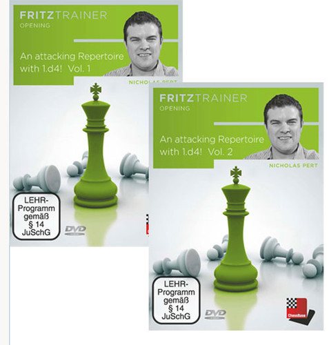 An Attacking Repertoire with 1.d4 (Parts 1 and 2) with Nicholas Pert - Chess Opening Software DVD