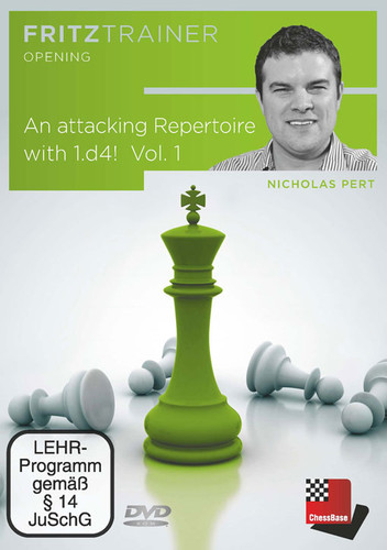 An Attacking Repertoire with 1.d4 (Parts 2) with Nicholas Pert - Chess Opening Software DVD