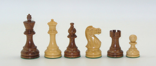 "Chess Pieces: Kikkenwood and Boxwood Classic Chessmen with 3.75"" King"