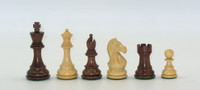 "Chess Pieces: Kikkenwood and Boxwood Pro Chessmen with 3.75"" King"