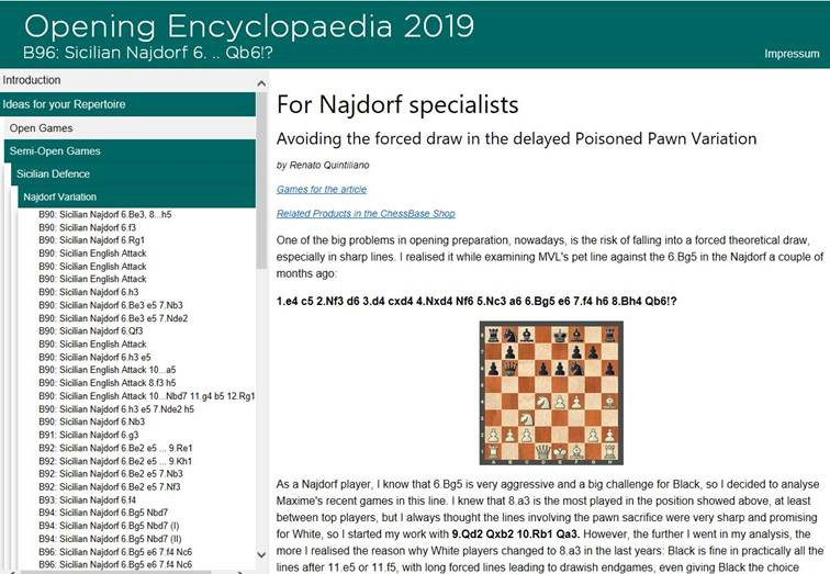 ChessBase Opening Encyclopedia 2019 - Chess Database Download