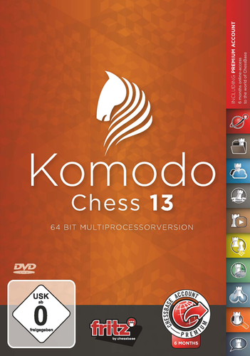 Komodo 13: Chess Playing Software Program - World Champion on DVD