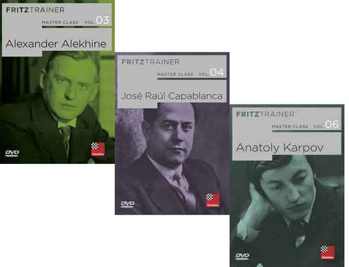 Master Class, Vol. 3, 4, 6: Alekhine, Capablanca, and Karpov  - Chess Biography Software DVD