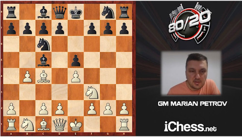 80/20 Tactics Multiplier: Evans Gambit - Chess Opening Video Download, by GM Marion Petrov
