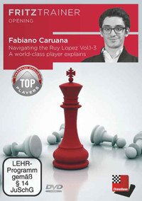 Navigating the Ruy Lopez with Fabiano Caruana (3 Volume Set) - Chess Opening Software DVD PC and MAC