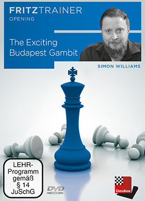Simon Williams: The Exciting Budapest Gambit - Chess Opening Software Download
