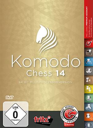 Komodo 14 Chess Playing Software Program on DVD