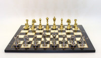 Treviso Refinement Chess Set - Chess Pieces and Matching Decoupage Chess Board