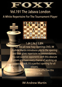 "Foxy 191: The London ""Jobava"" System for the Tournament Player - Chess Opening Video Download"