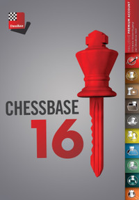 ChessBase 16 Premium Package and Chess King Flash Drive - Database Management Software DVD