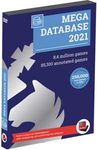 Mega Database 2021 - Chess Game Database Software PLUS Chess Success Software on DVD