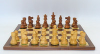 The Kirkwood Chess Pieces with Walnut/Maple Chess Board