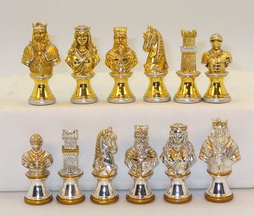 "Chess Pieces: Camelot Metal Chess Pieces 3"" King"