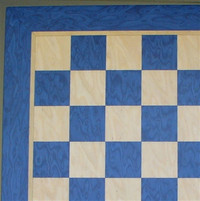 "Chess Board: Blue & Tan Veneer .1.5"" squares (40390BT)"