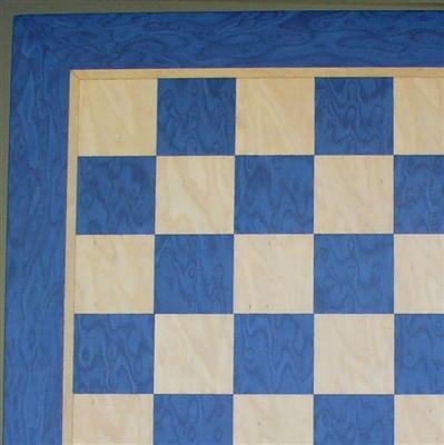 "Chess Board: Blue & Tan Veneer .1.5"" squares (40390BT)"