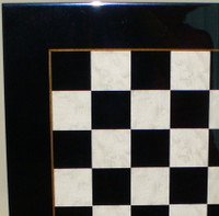 "Chess Board: Black and White Burl Wood with 2"" Squares"