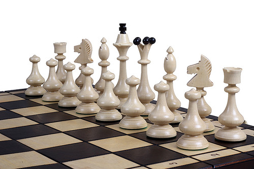 The Bevana - ChessCentral's Unique Wood Chess Set, with Board & Storage