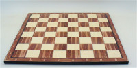 "merican Walnut Decoupage 17"" Chess Board Alpha/Numeric with 1.8"" square"