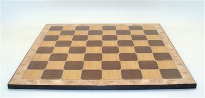 "Rustic Walnut Alpha/Numeric Decoupage Board (17.25"" Chess Board with 1.8"" square"